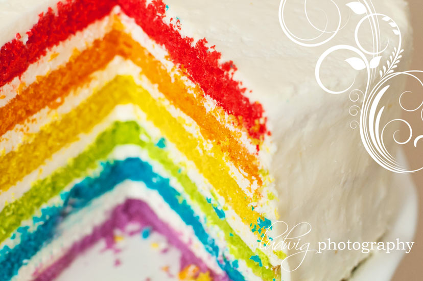 Rainbow Cake - Deliciously Declassified