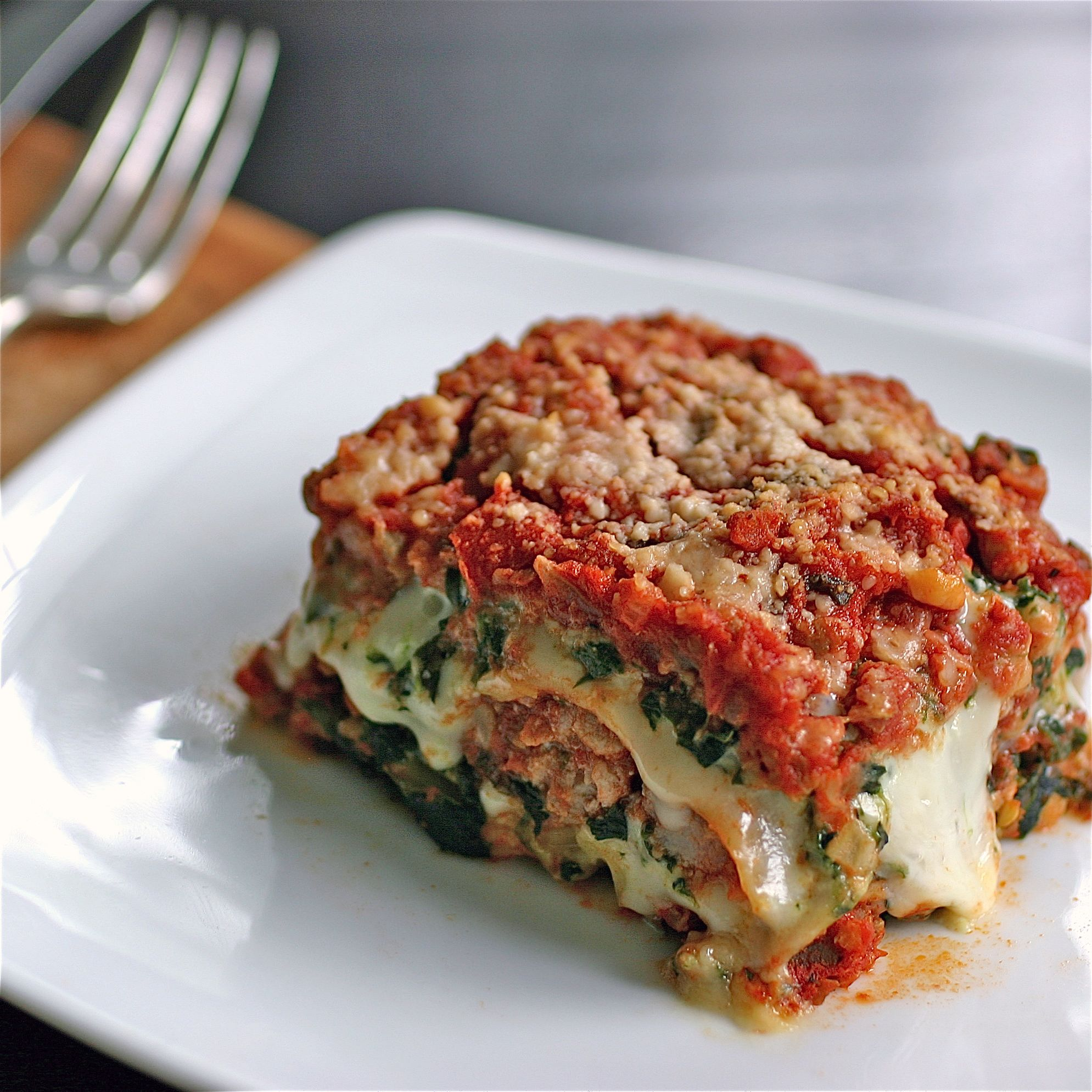 Spinach and Sausage Lasagna - Deliciously Declassified