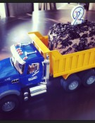 dump truck before