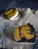 marble pumpkin cake