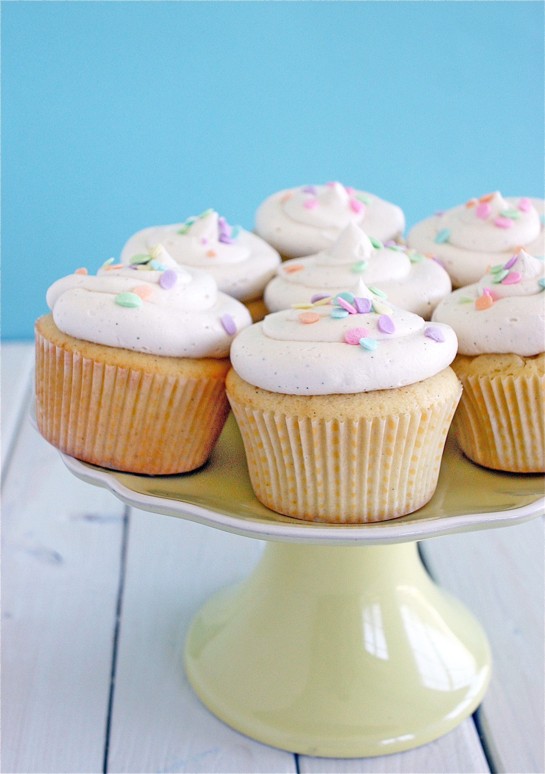 Vanilla Bean Cupcakes - Deliciously Declassified