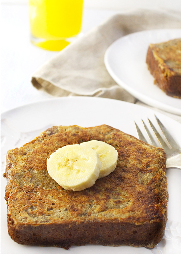 Banana Bread French Toast Closeup