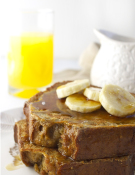 Banana Bread French Toast Stacked