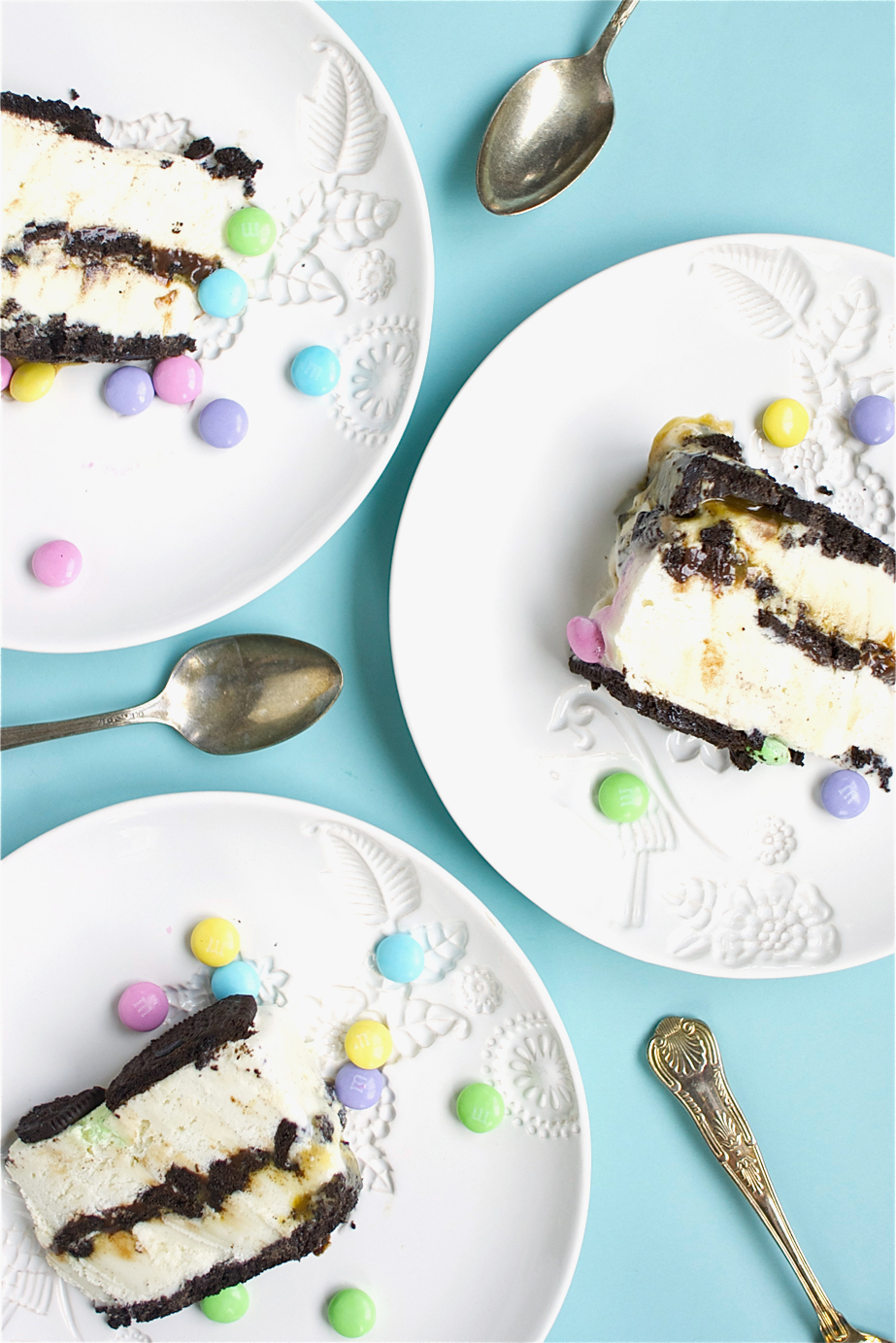 Oreo Ice Cream Cake Slices
