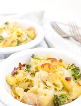 Cheesy Chicken Broccoli Baked Shells